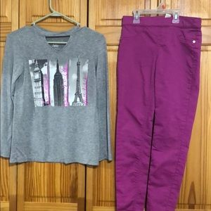 Girl's Pants and top from Justice size 14